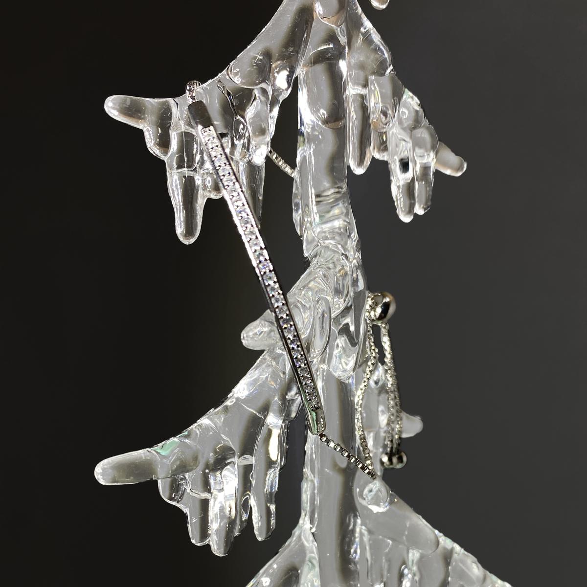 Adjustable Silver Crystal Bracelet3
