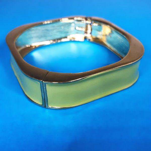 green enamel bangle, bangle bracelet, green bracelet, jewelry subscription, jewelry subscription box
