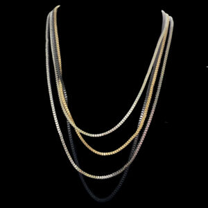 multi stand box chain necklace