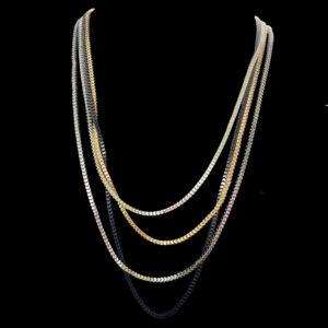 multi stand box chain necklace