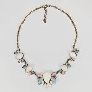 chunky statement necklace, pastel, jewelry, subscription, box, poiji