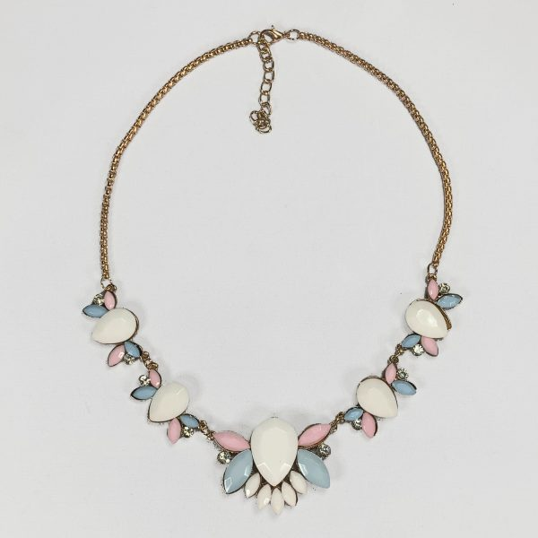 chunky statement necklace, pastel, jewelry, subscription, box, poiji