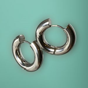 fat silver hoop earrings