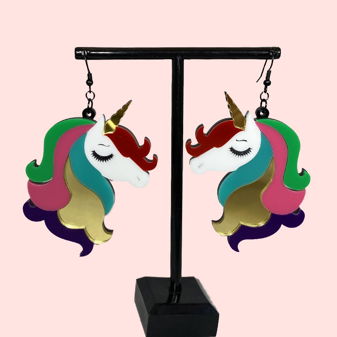 Unicorn Acrylic Earrings