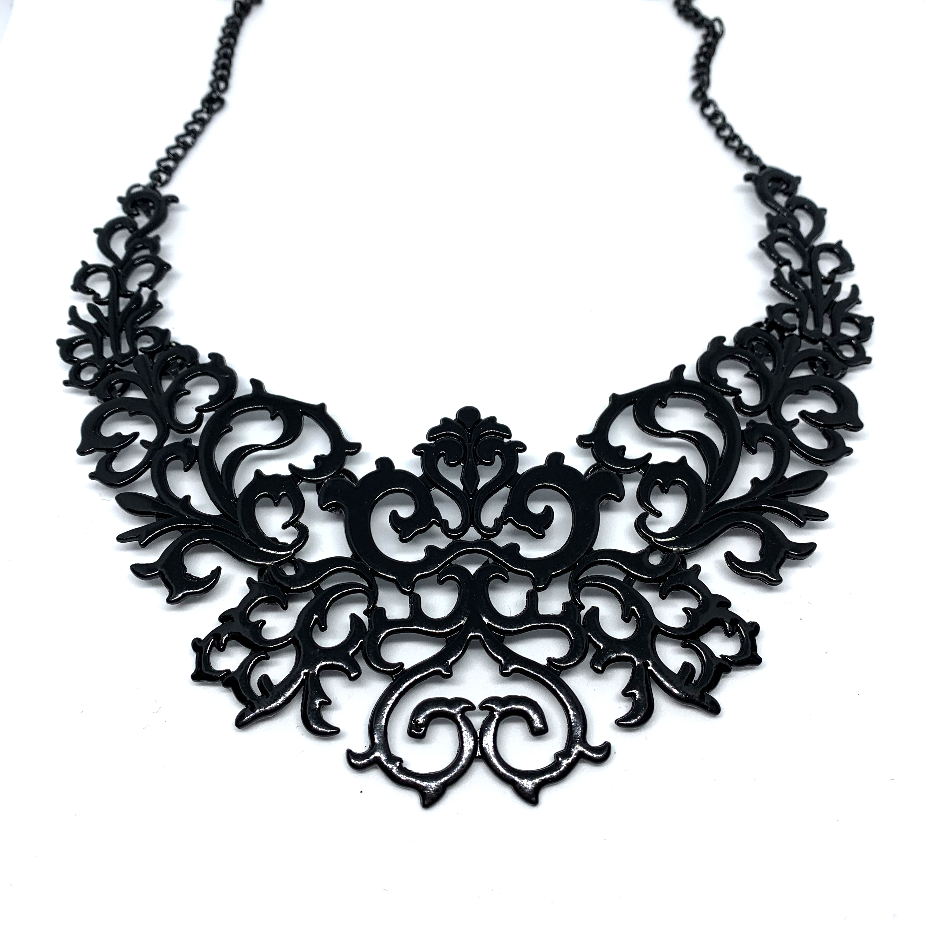 Black Filigree Necklace