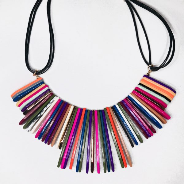 necklace, multi-colored necklace, statement necklace, jewelry, jewelry subscription, jewelry subscription box